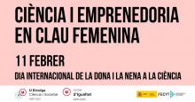 """Cartell del programa """"Ciència i Emprenedoria en clau femenina"""" la Universitat de Vic-UCC"""