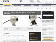 Captura de pantalla web UOC