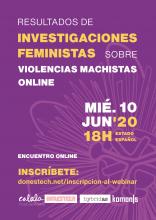 Webinar: Resultats de recerques feministes sobre violències masclistes online
