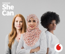 Vodafone is launching the #codelikeagirl program, which offers coding training for 1,000 young women in 26 countries