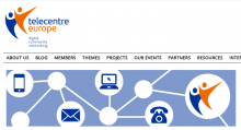 Captura de la web de Telecentre Europa