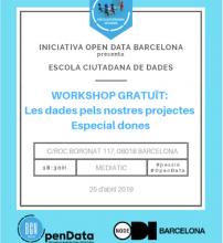 Open Data organitza un workshop gratuït dedicat a les dones que treballen amb Dades i/o Dades Obertes