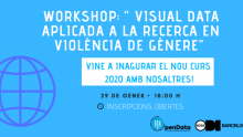 "Cartell del workshop ""Visual data aplicada a la reserva en violència de gènere"""