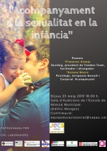 Poster to disseminate the talk on sexuality and education in the Òmnia de la Seu d'Urgell
