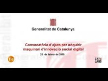 Embedded thumbnail for Expliquem en un webinar totes les claus de les subvencions d'innovació social digital