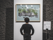 Obra exposada en l`edició 2017 de la Mobile Week Barcelona 2017 sobre el futur de les ciutats