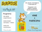 Cartell de la 2a Trobada ScratchEd Meetup Barcelona