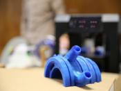 Fotografia d`una peça d`impressió 3D