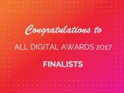 Felicitats als i a les finalistes de l`ALL DIGITAL AWARDS 2017