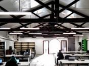 Foto de l`espai de working de BDN Lab, a Badalona