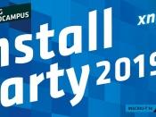 Cartell de la `Install Party 2019` de Mataró