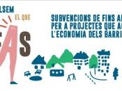 Convocatòria de subvencions per a l`impuls socioeconòmic dels barris de Barcelona