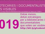 Campanya de GT Dones Visibles: `Dotze mesos, dotze estratègies per a bibliotecàries i documentalistes que volen ser visibles`