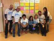 L`equip impulsor d`edcamp a Catalunya a la trobada que va tenir lloc a Girona el 26 de novembre de 2016