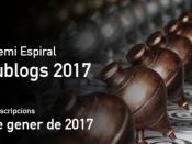 El 30 de gener s`obre el termini per participar a la convocatòria 2017 del Premi Espiral Edublogs