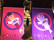 Trofeus i pòsters dels EQUALS in Tech Awards