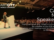 Cartell del call for speakers d l`Smart City Expo World Congress 2018