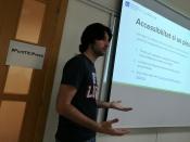 Jordi Serratosa, coordinador d`m4social ha fet un taller sobre apps socials a la IX Jornada Punt TIC i Presó