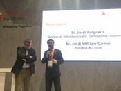 Jordi Puigneró i Jordi William Carnes presenten l`Observatori TIC de Catalunya al MWC18