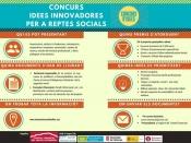 Infografia amb informació de la 5a edició del Concurs d`idees innovadores per a reptes socials