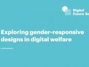 Informe `Explorant dissenys sensibles al gènere en el benestar digital` de Digital Future Society