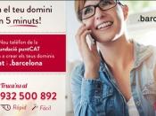 Cartell registre domini .cat .barcelona per tèlefon