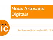 Portada del recull del material de la 2a edició del curs `Nous Artesans Digitals`