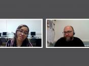 Parlem sobre programari lliure amb Lady Pazmiño de l`Òmnia Colectic i en David Picó de l`Òmnia PES La Mina.