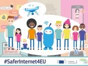 Il·lustració per difondre el premi #SaferInternet4EU