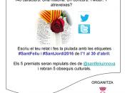 Cartell del concurs de Sant Jordi de SantFeliu