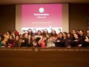 Foto de grup de les participants de l`esdeveniment de llançament de Technovation 2019 a Barcelona
