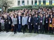 El 7 de febrer les dones que participen en `100tífiques` es van trobar a Barcelona