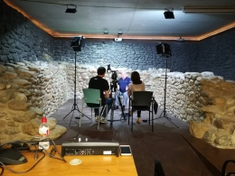 Gravant entrevista