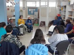 Participants del `Projecte Veus` de l`Òmnia La Seu i el Taller Claror