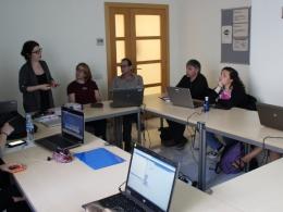 Utilitzant l`aula mòbil a una formació sobre Scratch a Presons