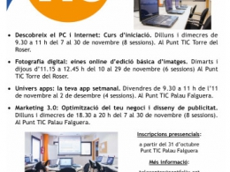 Formacions de novembre als Punt TIC de Sant Feliu
