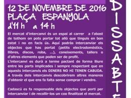 Cartell del 17è Mercat d`intercanvi de Collblanc - La Torrassa