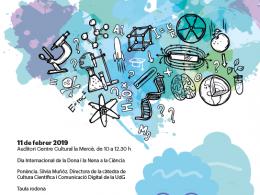Cartell dels actes del Dia Internacional de la Dona i la Nena en la Ciència 2019