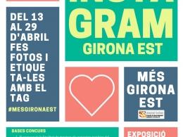 Cartell del concurs d`Instagram Girona Est
