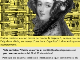 Cartell del `scape room` sobre dones i STEM del Punt TIC Palau-solità i Plegamans