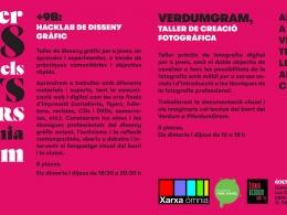 Cartell dels tallers creatius a l`Òmnia Verdum