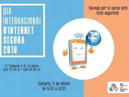 Cartell de l`activitat que organitza l`Òmnia CPS Francesc Palau en el marc del Dia de la Internet Segura