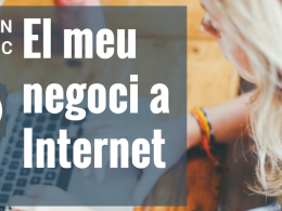 Cartell del programa `EmprènTIC: El meu negoci a Internet` de Can Muntanyola