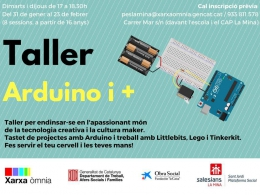 Taller Arduino i +, a l`Òmnia PES La Mina