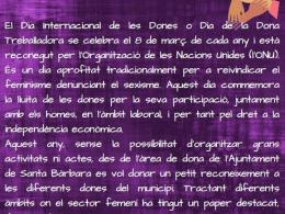 Activitats 8 de març 2021 a l`Smartcentre de Santa Bàrbara