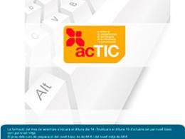 Cartell Formació certificat  Generalitat ACTIC a la Ribera d`Ebre