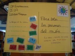 Postal del Dia Internacional de la Llengua Materna