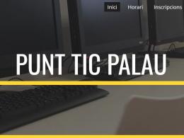 Nova web del Punt TIC Palau