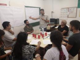 Sessió del procés participatiu de l`Òmnia a l`Hospitalet de Llobregat