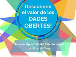 Cartell de la Setmana Open Data del Baix Llobregat